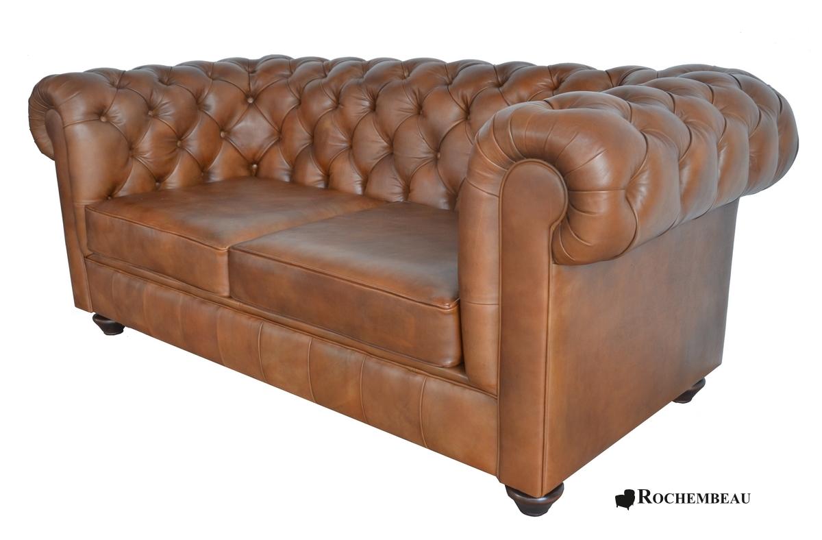 Newton Chesterfield Sofa Rochembeau Sheepskin Leather