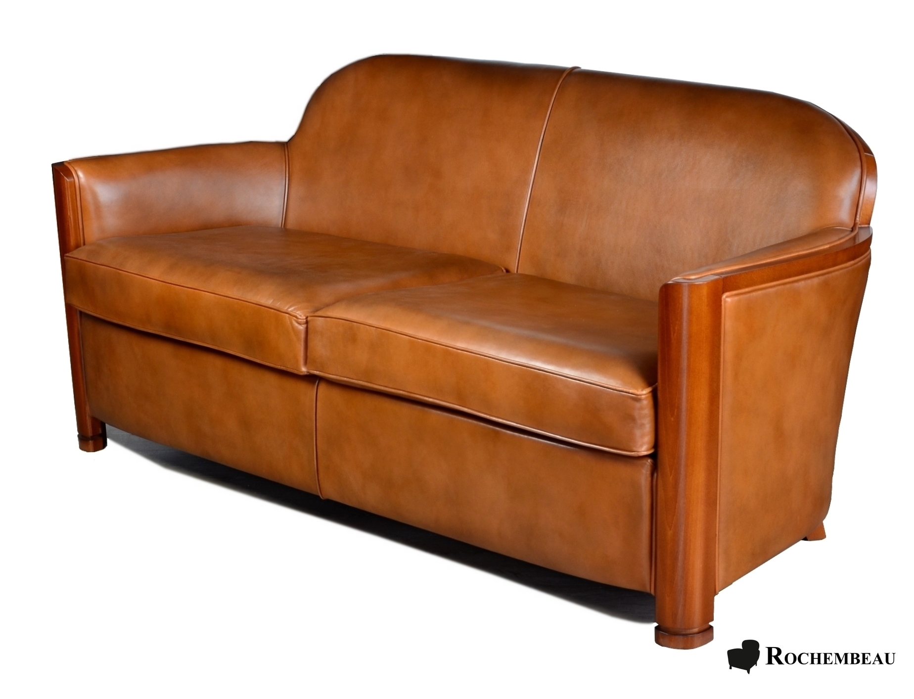 Cardigan Club Sofa Top Grain Leather