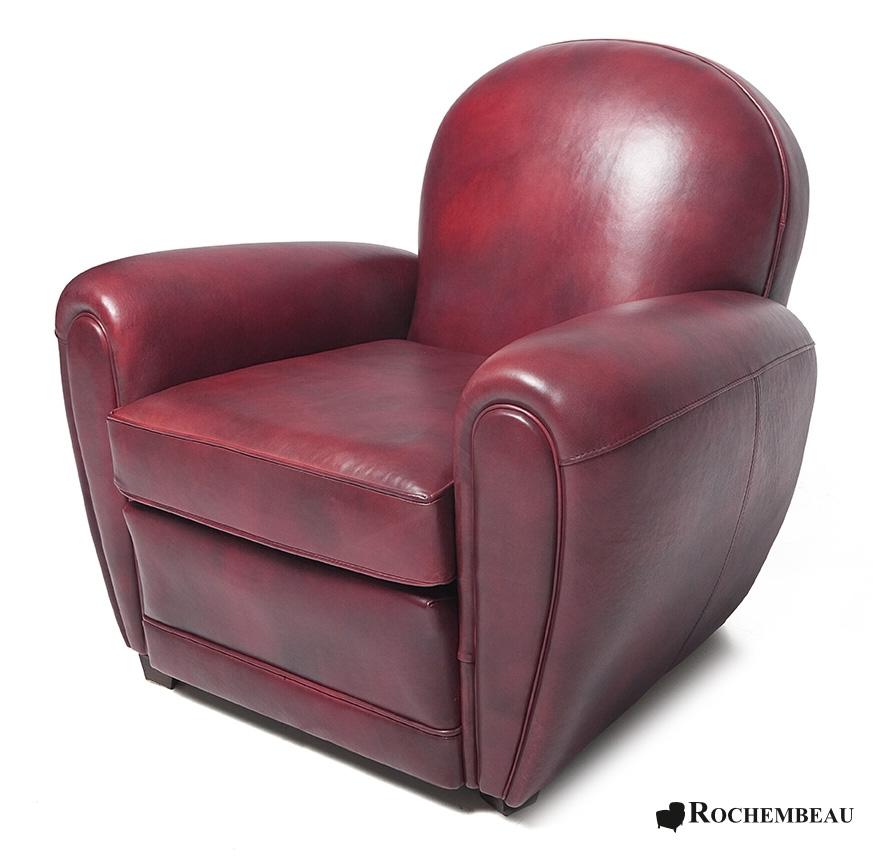 Bradford club chair rochembeau sheepskin leather club for Discotheque a bordeaux