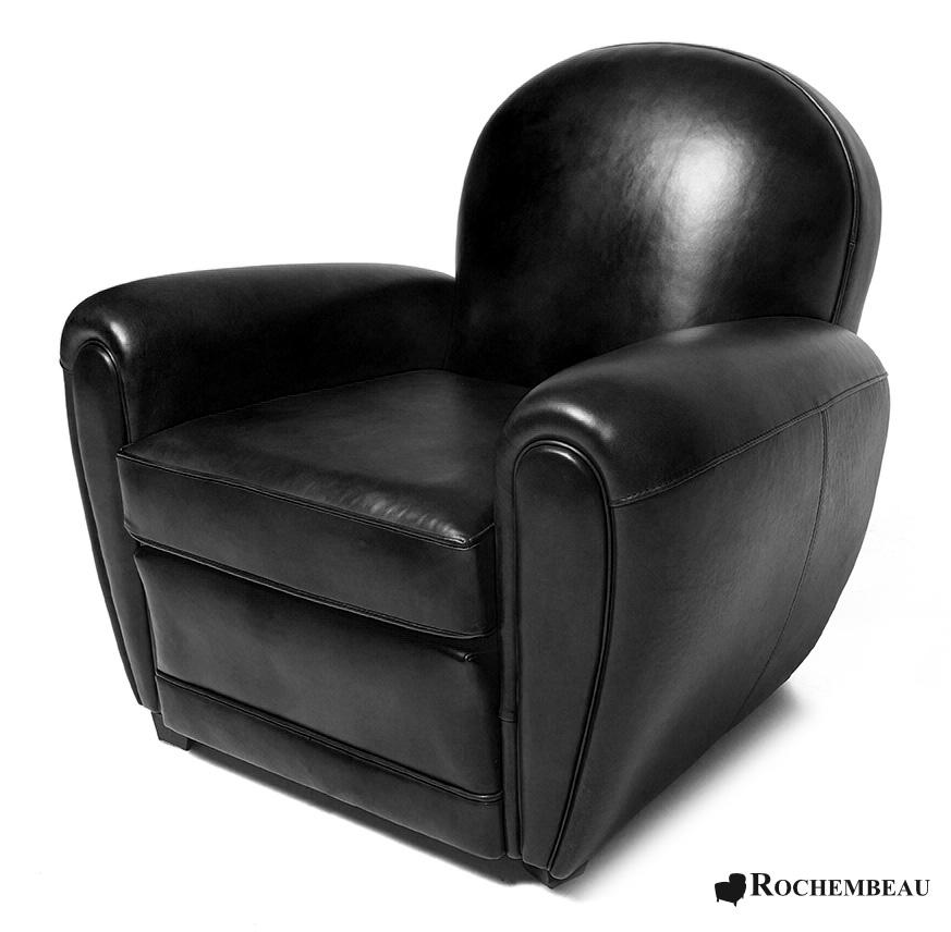 Bradford Club Chair. Rochembeau Sheepskin Leather Club Armchair
