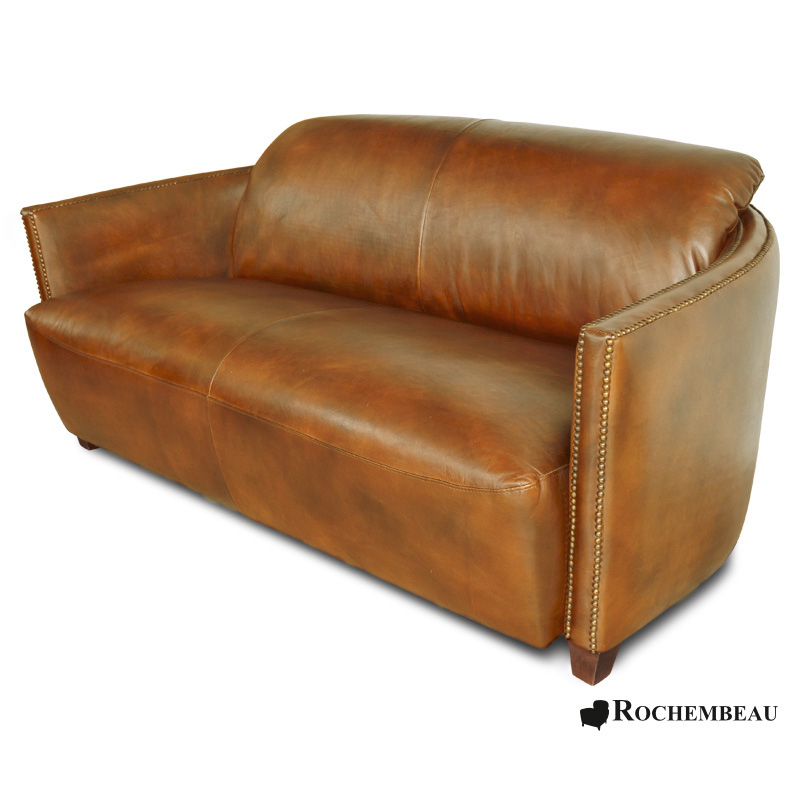leather bateau club sofa sheepskin leather cigare sofa. Black Bedroom Furniture Sets. Home Design Ideas