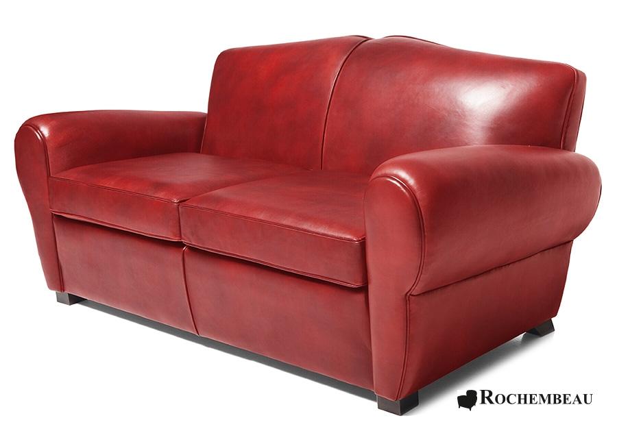 Moustache Club Sofa - Top-grain Leather Sofa