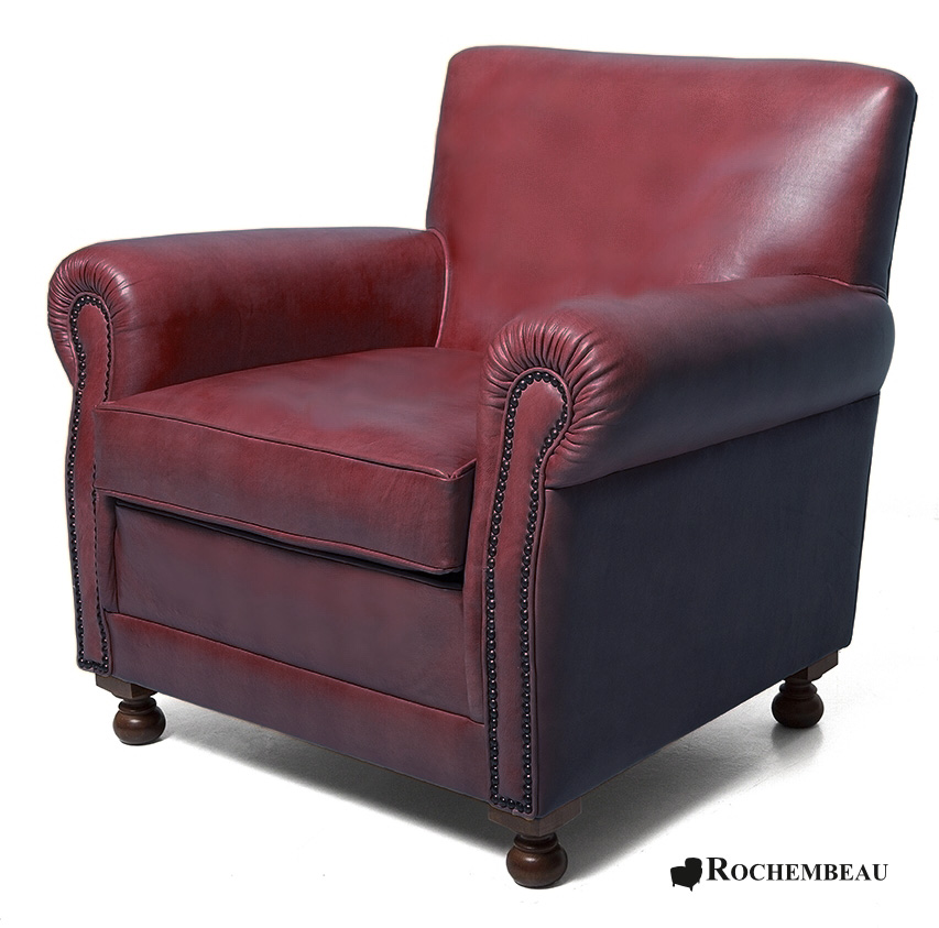 Liverpool club armchair rochembeau sheepskin leather club for Discotheque a bordeaux