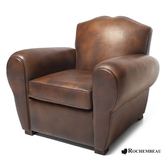 club armchair club sofa chesterfield in leather my leather club armchair rochembeau. Black Bedroom Furniture Sets. Home Design Ideas