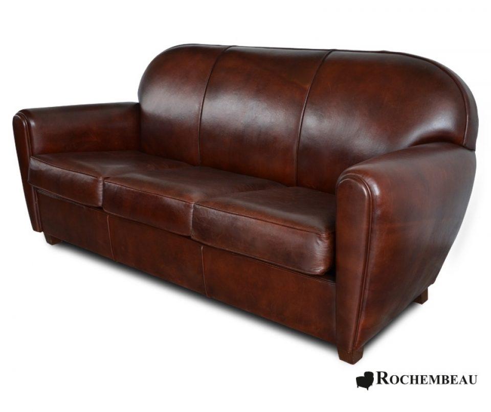 Leather Sofas Nyc: New York Club Sofa. Rochembeau Sheepskin Leather Club Sofa