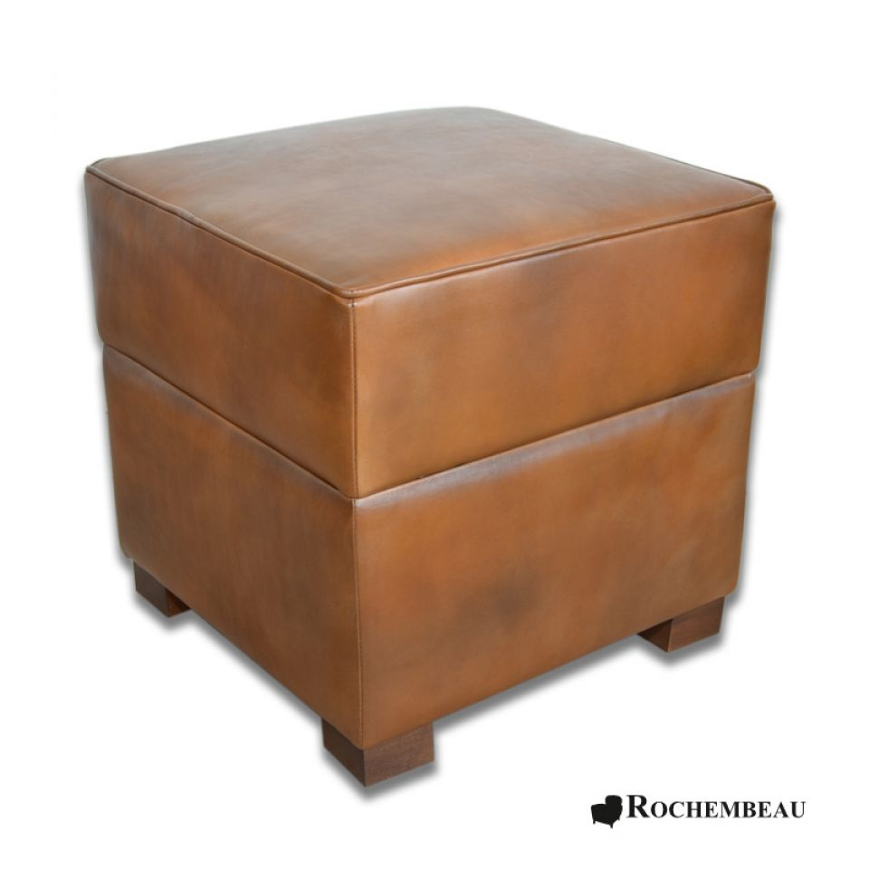 Square 48 x 48 cm footstool rochembeau footstools - Pouf marron conforama ...