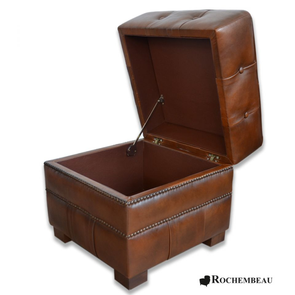 square 48 x 48 cm footstool rochembeau footstools. Black Bedroom Furniture Sets. Home Design Ideas