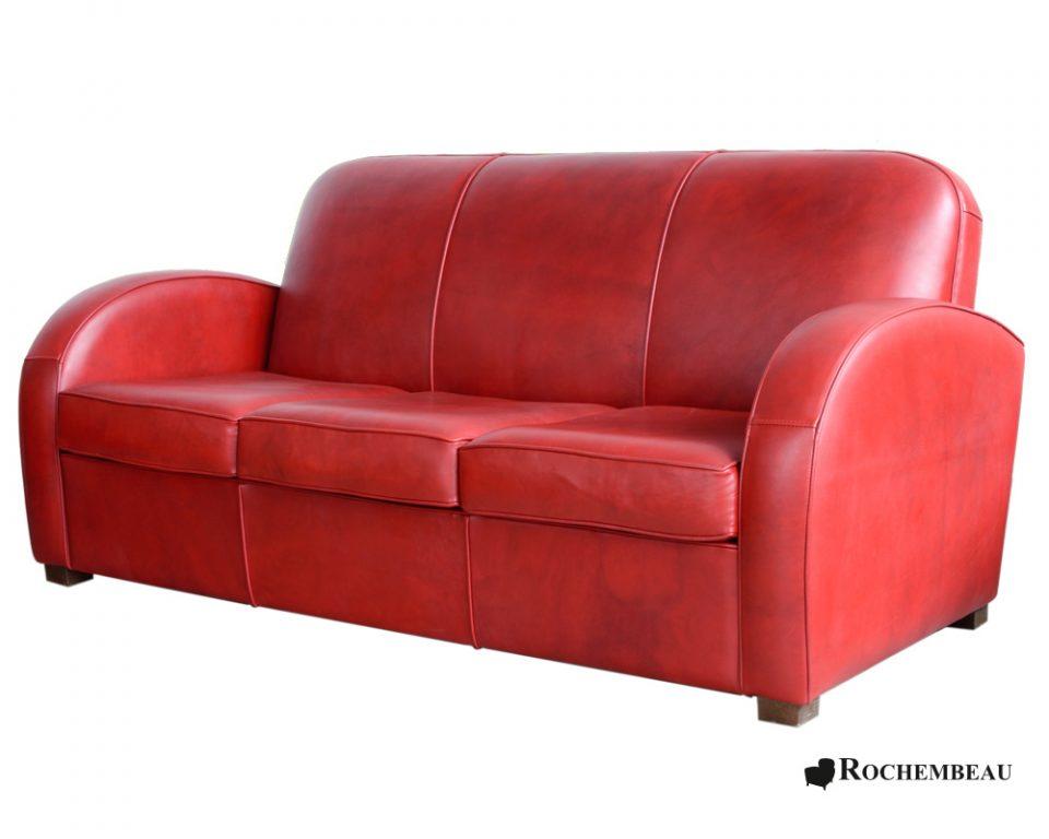 Newcastle Club Sofa - Club sofa in top-grain leather ...