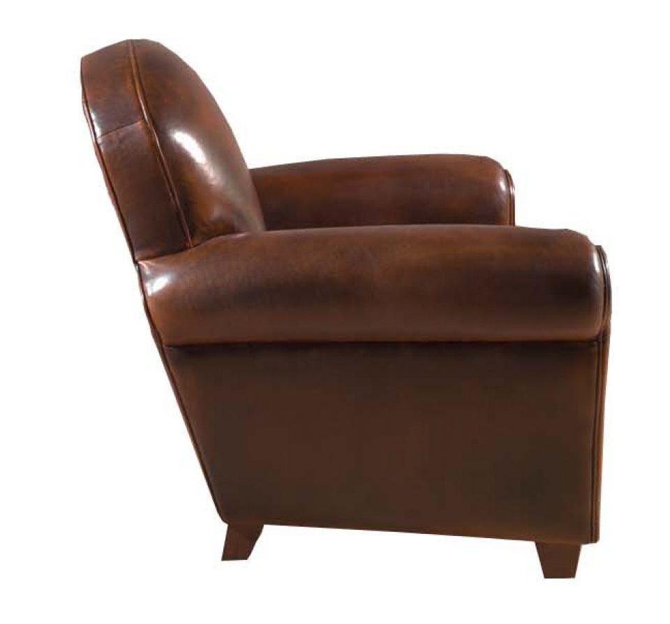 Sofá Clapton: Clapton Club Chair. Rochembeau Sheepskin Leather Club Armchair