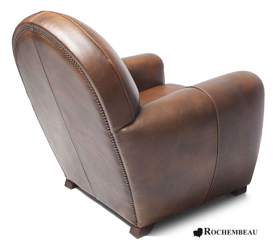 newquay club chair - Brown Leather Club Chair